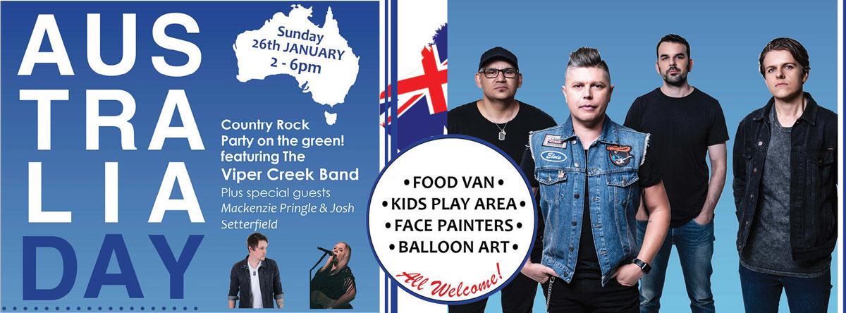 Australia Day 2020 Club Macquarie Viper Creek Band