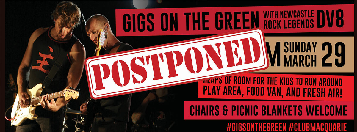 Postponed DV8 Club Macquarie Sunday Sesh March 29 3-6PM