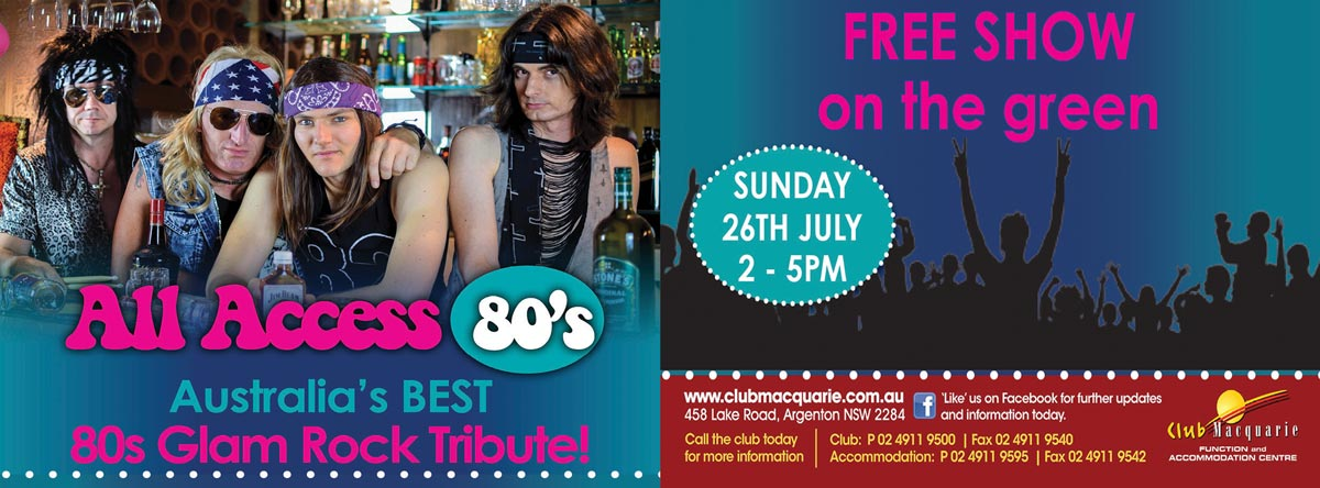 Club Macquarie Sunday Sesh All Access 80s 26th July 2020 2pm
