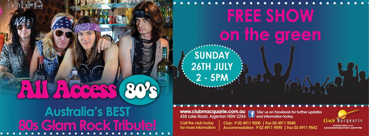 Club Macquarie Free Show on The Green - July 26 2020 - All Access 80s