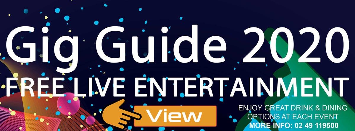 Club Macquarie Gig Guide July 2020