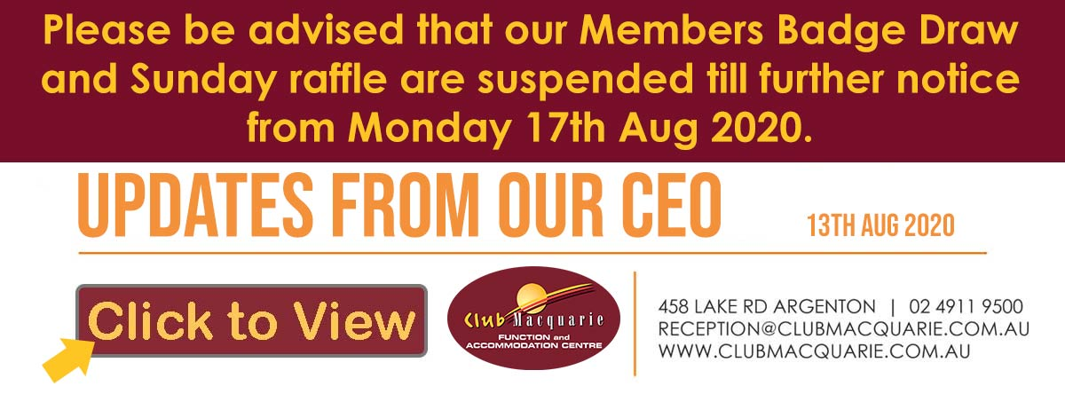 Club Macquarie Message from the CEO