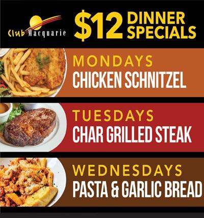 $12 Dinner Specials