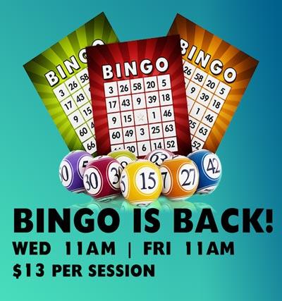 Bingo at Club Macquarie Wed and Friday