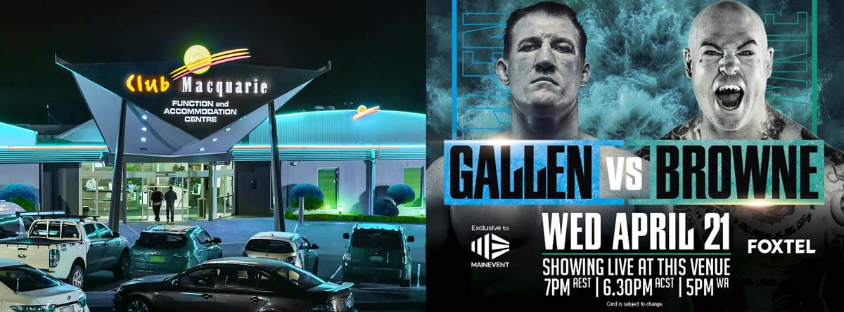 Gallen Vs Browne Wed 21st April