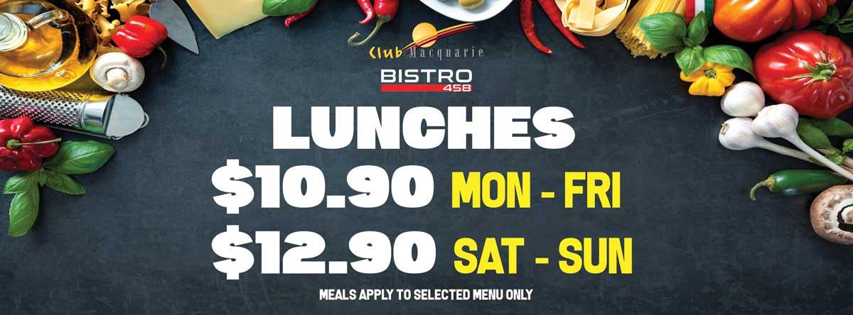 Lunch Specials at Bistro 458