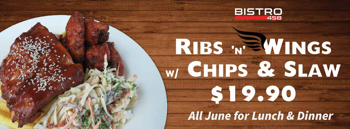 Ribs & Wings - June Lunch and Dinner Special