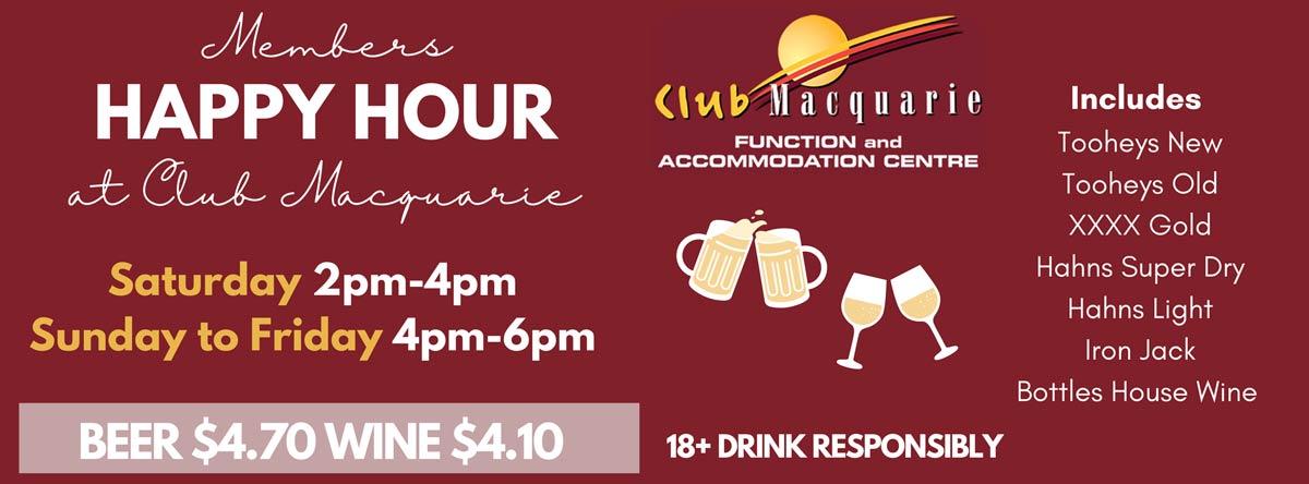 Club Macquarie Happy Hour